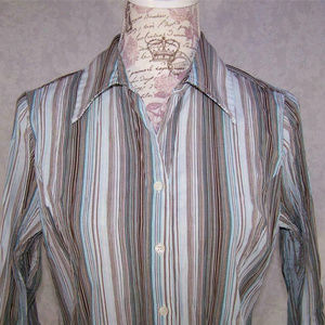 Fred David Shirt Crinkled Stretch Striped